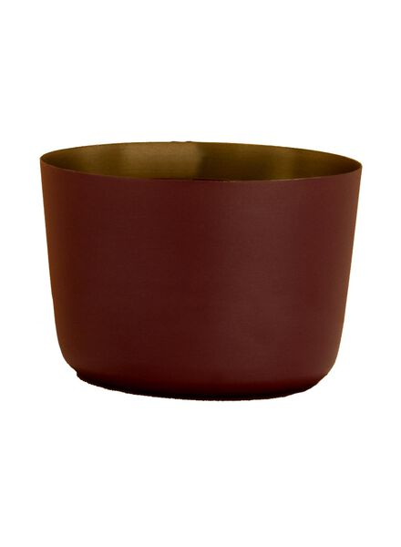 tea light holder - Ø 8 cm - dark red - 13392104 - hema