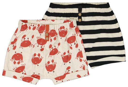 2er-Pack Baby-Shorts eierschalenfarben 68 - 33113042 - HEMA