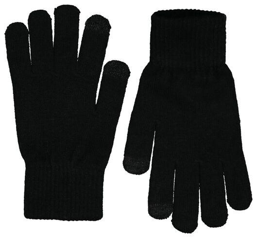 2-pack men's gloves touchscreen black black - 1000020395 - hema