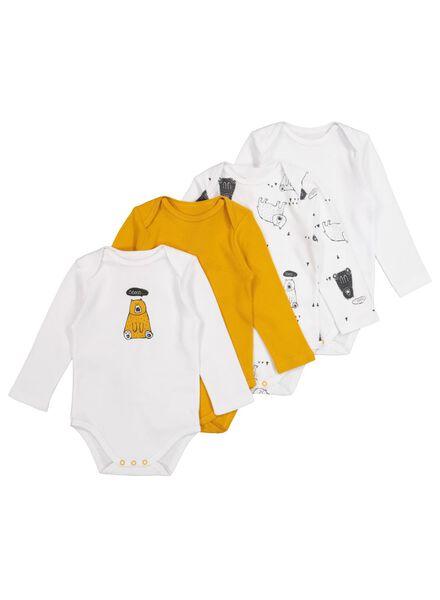 4 bodies en coton blanc blanc - 1000017381 - HEMA