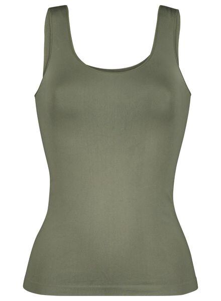 women's vest seamless micro green green - 1000015694 - hema