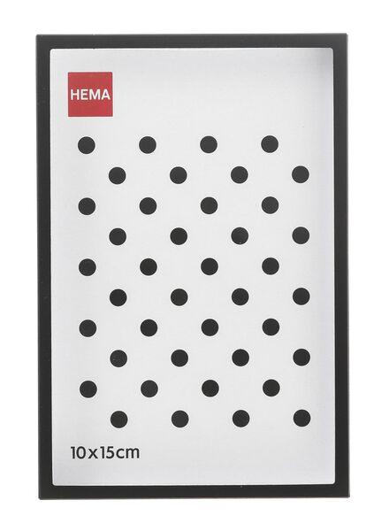 fotolijst 10 x 15 - metaal zwart 10 x 15 zwart - 13691007 - HEMA