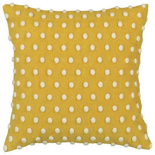 cushion cover - 50 x 50 - pompoms - yellow/white - 7392027 - hema