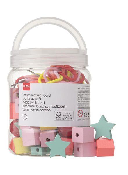 70-pack wooden beads - 15122233 - hema