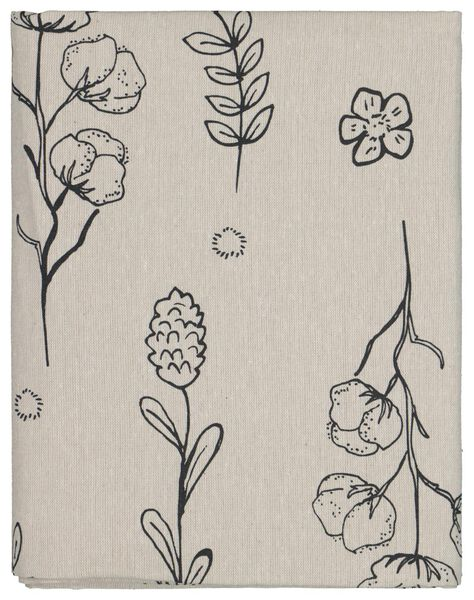 tablecloth 140x240 chambray - plants recycled - 5300094 - hema