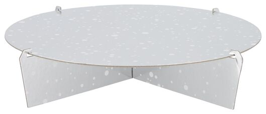 Etagere – Ø 30 cm – eine Ebene – silbern - 14210142 - HEMA