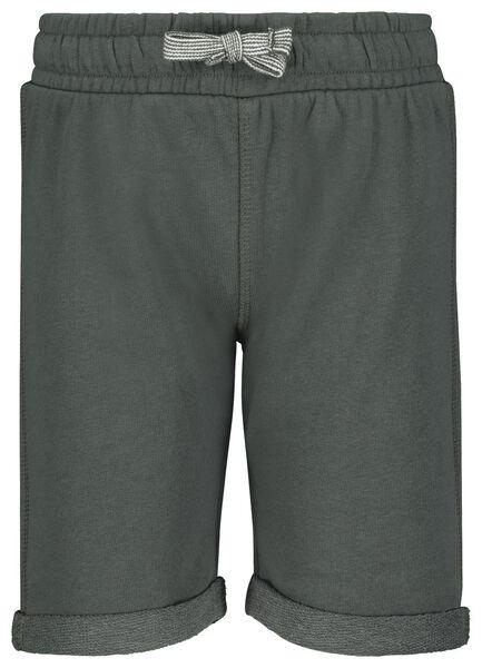 2er-Pack Kinder-Shorts dunkelgrün 98/104 - 30738452 - HEMA