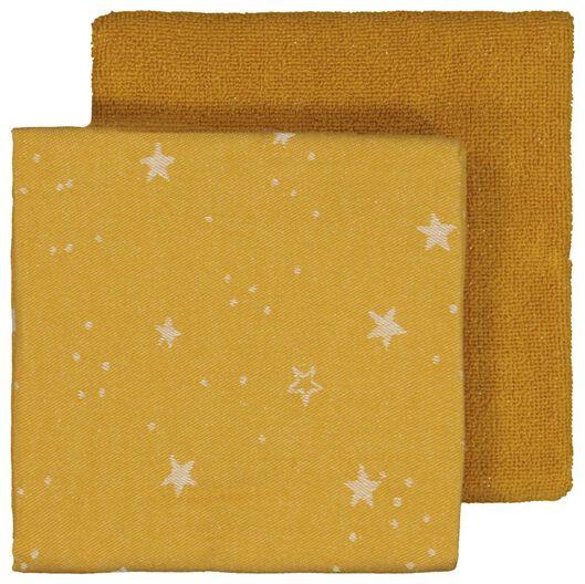 Image of HEMA 2 Tea- And Kitchen Towels Stars Yellow Ochre