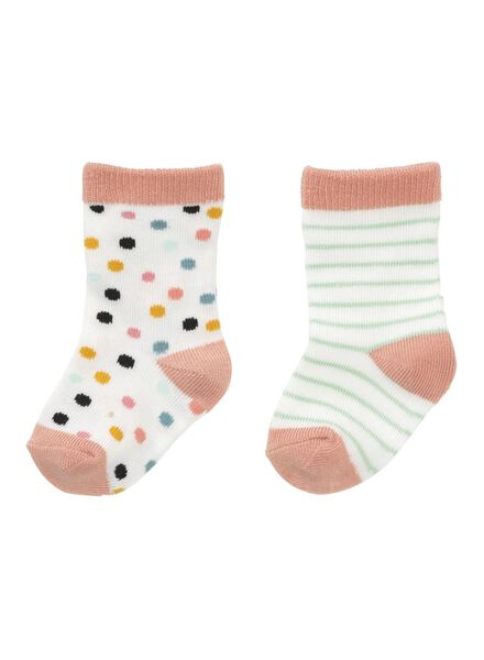 2er-Pack Kinder-Socken rosa rosa - 1000012565 - HEMA