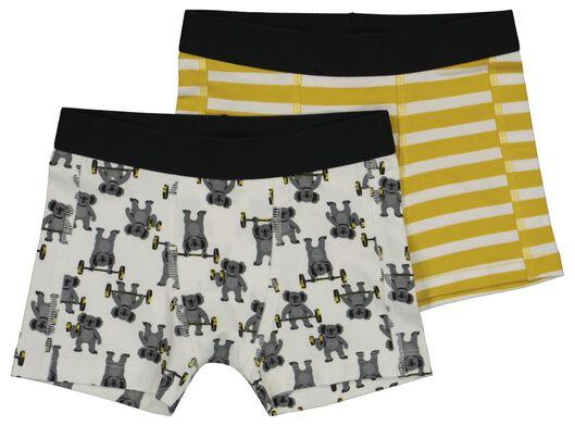 2er-Pack Kinder-Boxershorts mit Bambus, Koalas gelb gelb - 1000022659 - HEMA