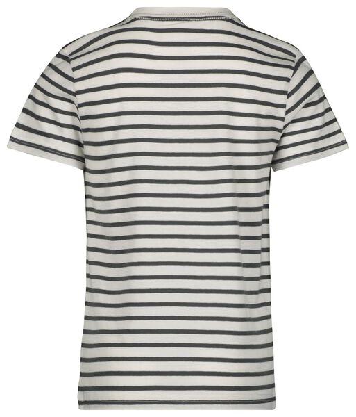 Kinder-T-Shirt, Streifen dunkelgrün 134/140 - 30743734 - HEMA