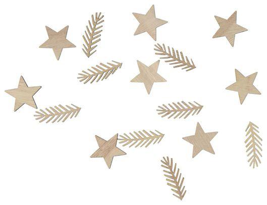 16confettis en bois - 25600170 - HEMA