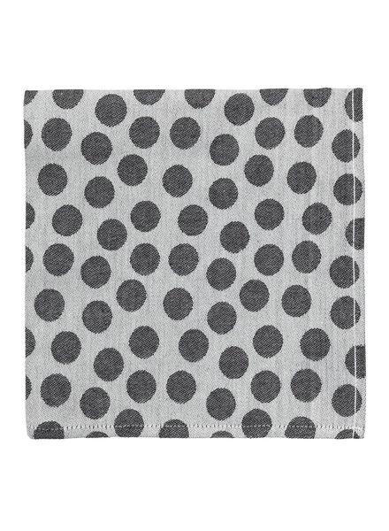 keukendoek 65 x 65 cm theedoek zwart/wit - 5440226 - HEMA