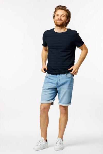 herenshort jog denim lichtblauw lichtblauw - 1000023609 - HEMA