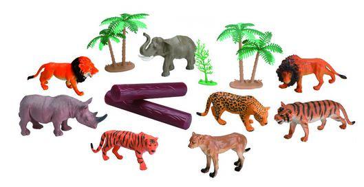 jungle animal set - 15100070 - hema