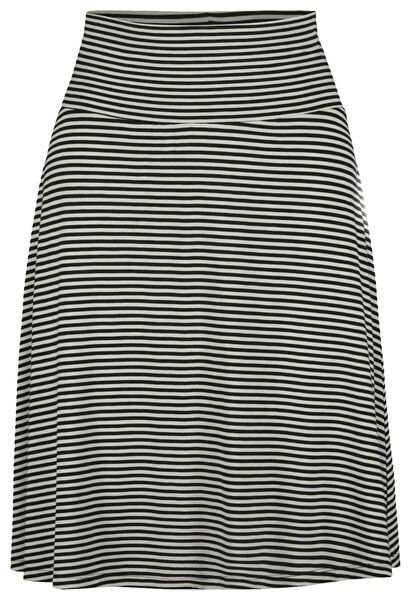 women's skirt black/white black/white - 1000019225 - hema