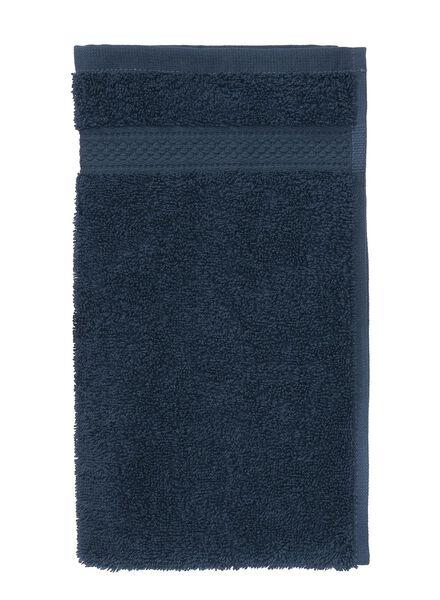 petite serviette-30x55 cm-qualité épaisse-denim uni denim petite serviette - 5240179 - HEMA