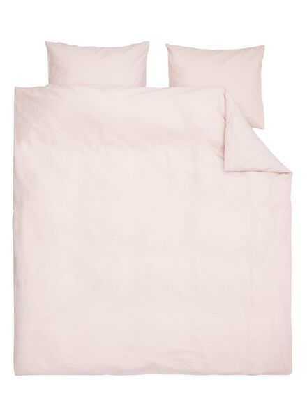 duvet cover - soft cotton - uni pink pink - 1000014131 - hema
