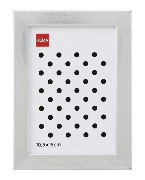 cadre photo bois 10x15 argenté - 13621045 - HEMA