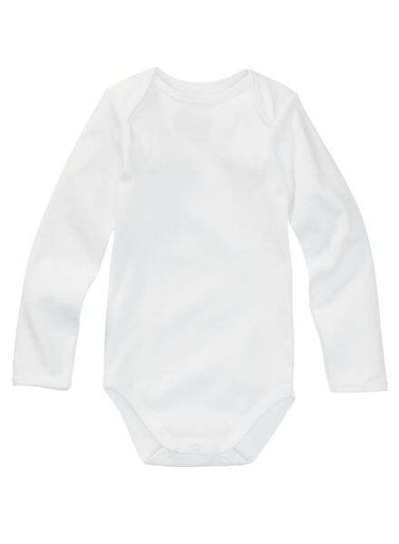 body en coton - 3 pièces blanc blanc - 1000005234 - HEMA