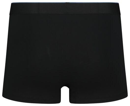 2-pak herenboxers kort real lasting cotton zwart zwart - 1000018787 - HEMA