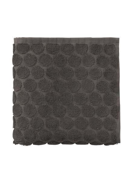 serviette de bain-50x100 cm-qualité épaisse-gris foncé pois - 5240172 - HEMA