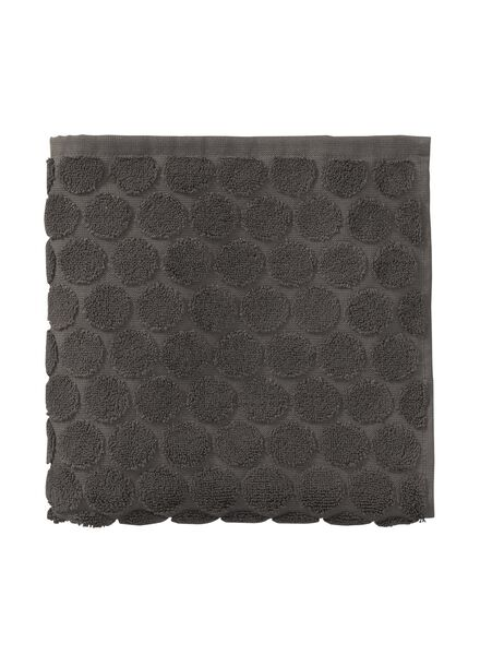 towel - 50 x 100 cm - heavy quality - dark grey dotted dark grey towel 50 x 100 - 5240172 - hema