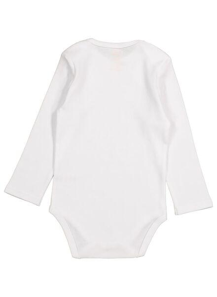 4 bodies en coton blanc blanc - 1000015486 - HEMA