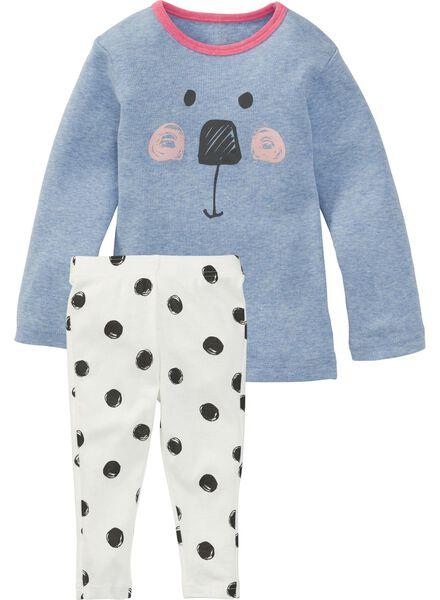 Baby-Pyjama, Mädchen blau 86/92 - 33322112 - HEMA