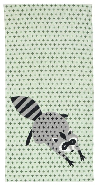 towel - velvet - 50x100 - raccoon - 5210118 - hema