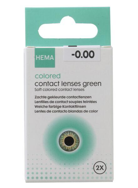 coloured contact lenses - green - 11973019 - hema