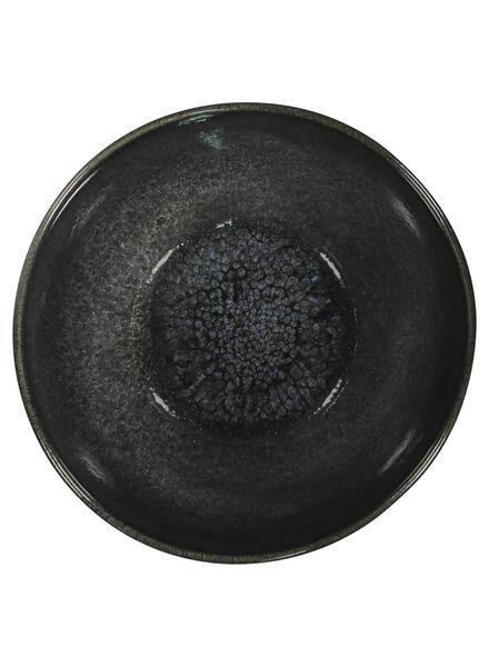 bowl - 14 cm - Porto - reactive glaze - black - 9602034 - hema