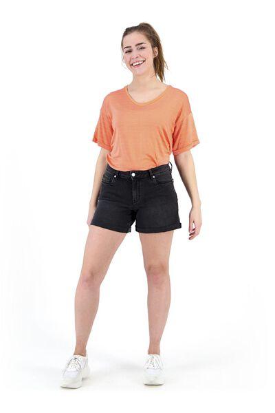 Hosen - HEMA Damen Jeansshorts Schwarz  - Onlineshop HEMA