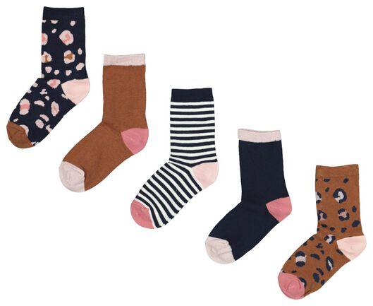 5-pack children's socks leopard brown brown - 1000020467 - hema