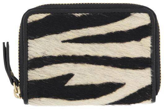 Geldboersen - HEMA Portemonnaie, Zebra, Schwarz weiß  - Onlineshop HEMA