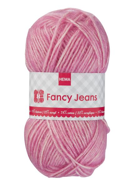 knitting yarn fancy jeans - pink fancy jeans pink - 1400162 - hema