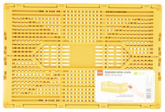 Buchstabentafel-Klappkiste, recycelt, 20 x 30 x 11.5 cm, gelb gelb 20 x 30 x 11,5 - 39821021 - HEMA