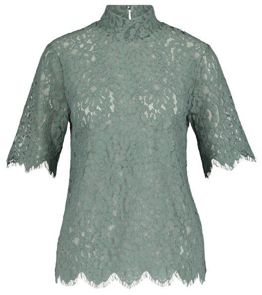 women's lace top light green light green - 1000017763 - hema