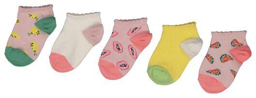 5-pack children's ankle socks multi multi - 1000018421 - hema