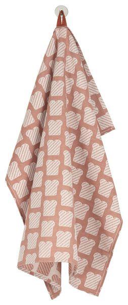 kitchen towel 65x65 cotton - brown/white bread - 5410092 - hema