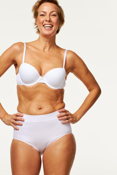 women's high-waist briefs firm control white white - 1000019710 - hema
