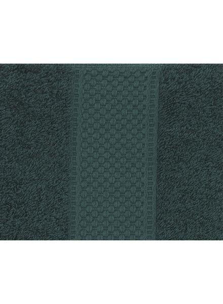 serviette de bain - 70x140 cm - qualité épaisse - vert foncé - 5220015 - HEMA