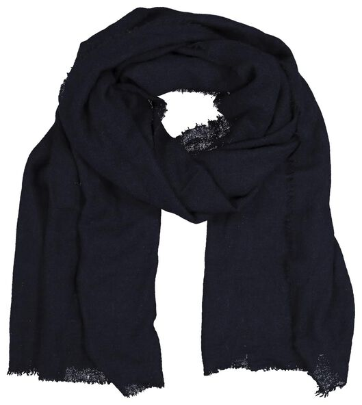 écharpe femme 200x60 laine mélangée bleu - 1790026 - HEMA