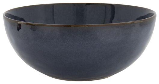 schaal - 26 cm - Porto - reactief glazuur - donkerblauw - 9602222 - HEMA