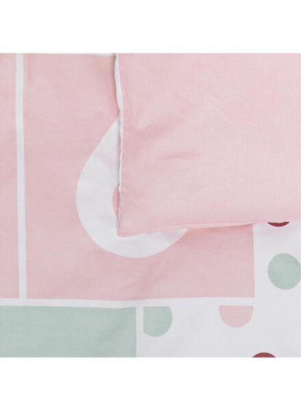 children's duvet cover - 140x200 - hopscotch court pink - 5740018 - hema