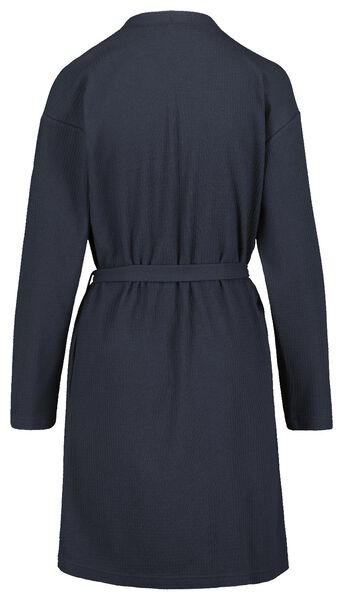 women's bathrobe honeycomb dark blue dark blue - 1000018752 - hema