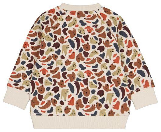Baby-Sweatshirt mit Bambus, Hunde eierschalenfarben eierschalenfarben - 1000024476 - HEMA