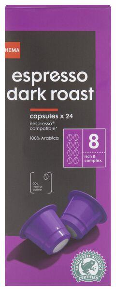 24er-Pack Kaffeekapseln Espresso Dark Roast - 17180006 - HEMA
