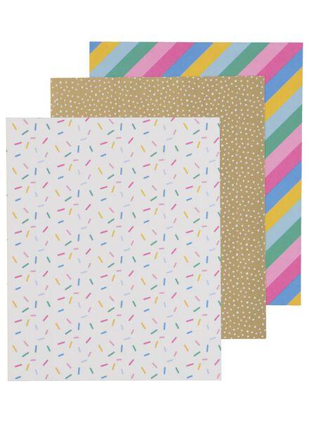 3 feuilles washi 16 x 13 - 14700253 - HEMA