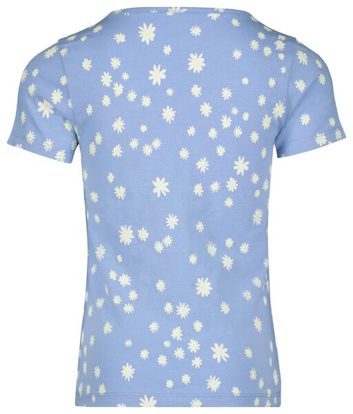Kinder-T-Shirt, Blumen blau blau - 1000023142 - HEMA